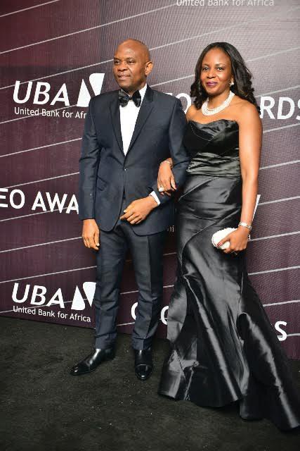 Mr Tony Elumelu, wife, Awele