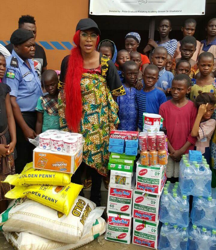 Cynthia Morgan visits orphanage 3
