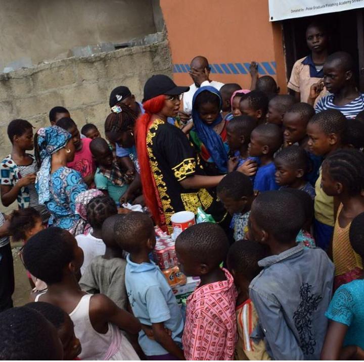 Cynthia Morgan visits orphanage 4