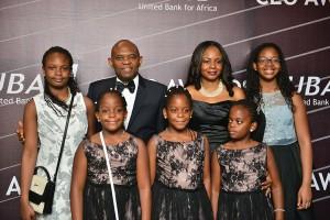 Mr. and Mrs Awele Elumelu and children