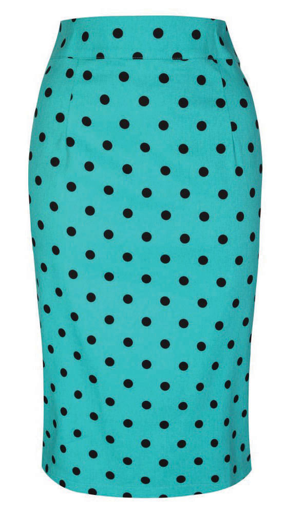 Teal polka dot skirt