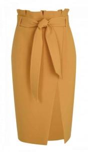 Topshop paper bag waist skirt