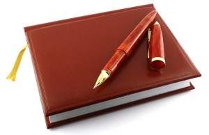 Pen and diary.