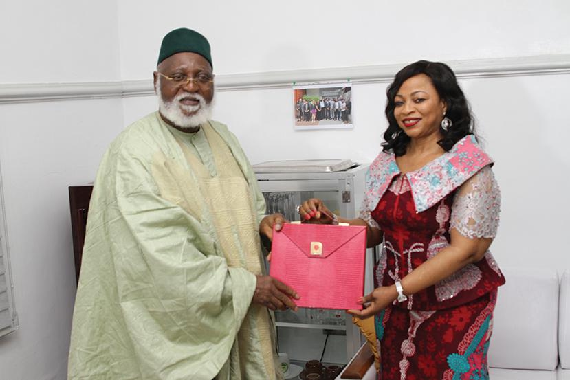 Abdulsalami Abubakar and Folorunso Alakija