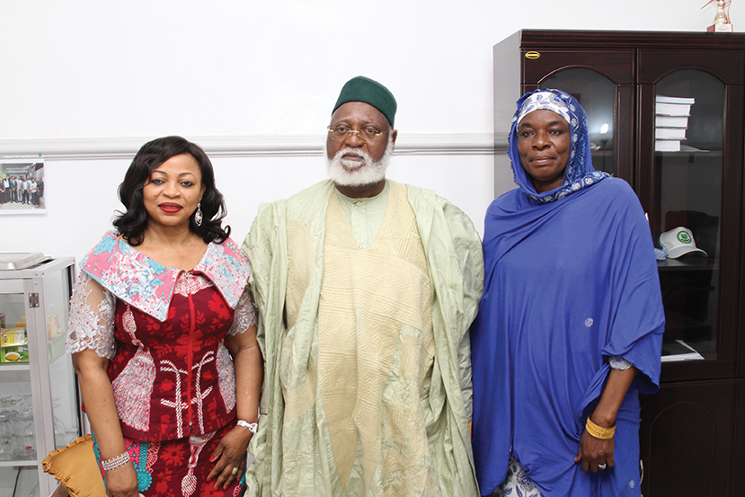 Folorunso Alakija, Abdulsalami Abubakar and Hajiya Fatima N. Madugu