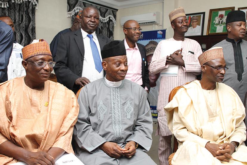 Mohammed Maude Lapai,Aliyu Abdullahi and Professor Muhammad Maiturare
