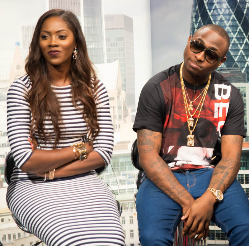 Tiwa Savage and Davido