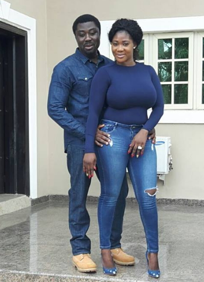 mercy johnson husband matching outfit