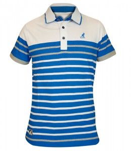 Kangol stripe polo t shirt