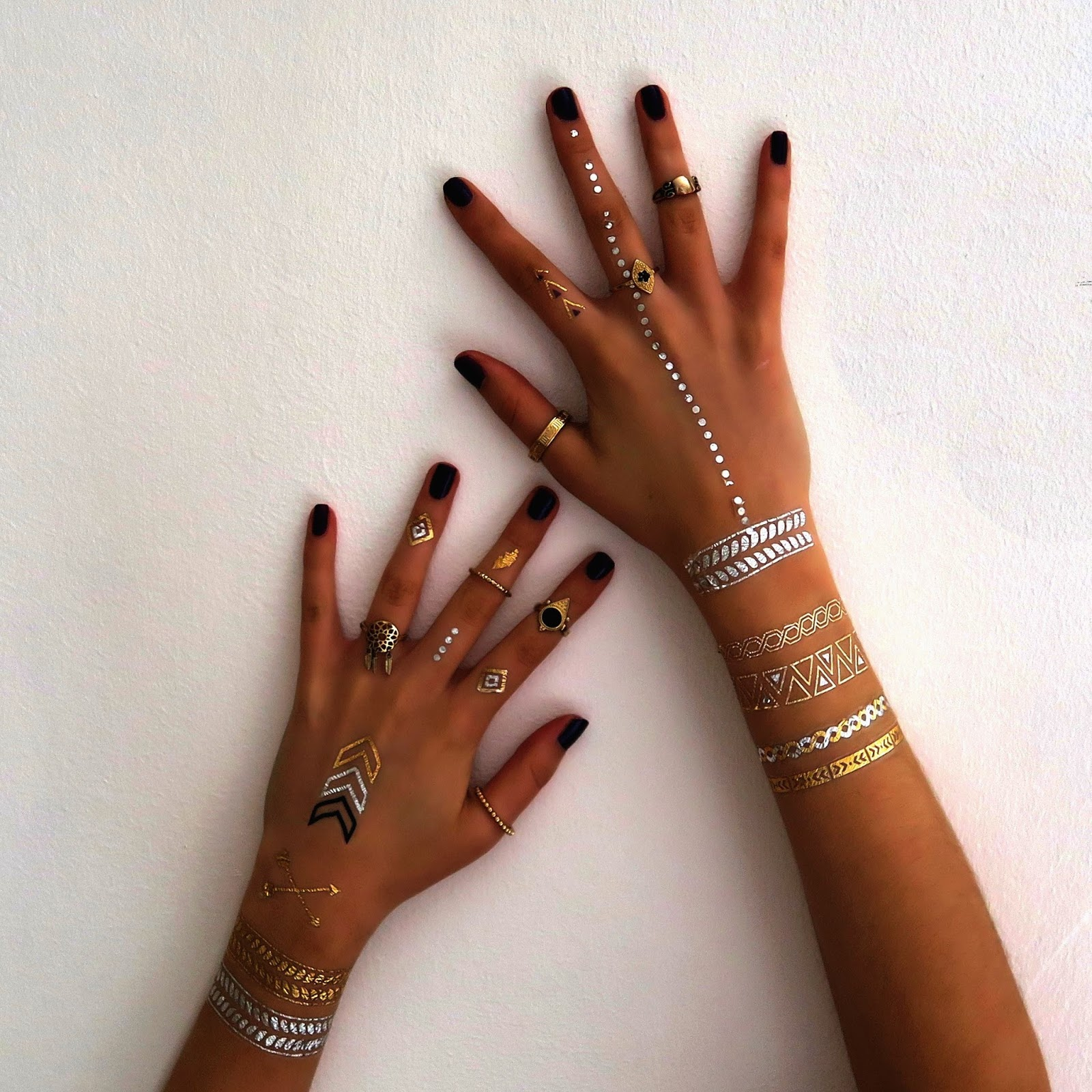 New trend alert for tattoos lovers the metallic ink for Permanent metallic ink tattoos