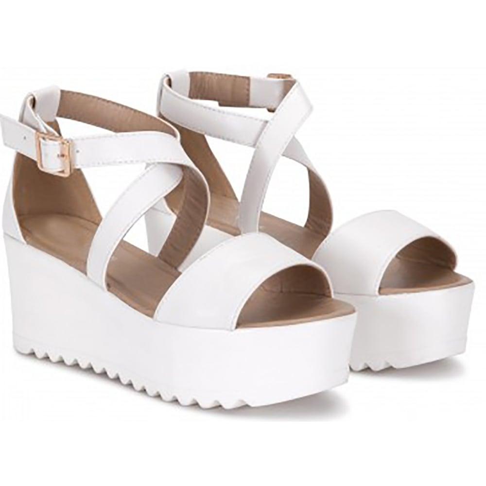 white strapy sandals