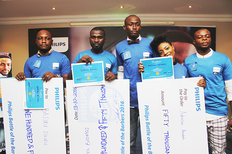 Pix: Winners at the competition; Battle of the Barbers.