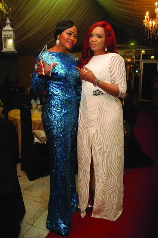 Eunice Efole with a friend