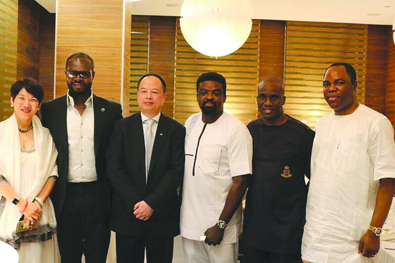 Chairman CIG Motors Diana Chen, Lead Consultant GAC Africa, Linus Idahosa, General Manager GAC Group China Yu Jun, Kunle Afolayan, Publisher Daily Times Fidelis Anosike, Chairman NTEL Dr Tunde Ayeni