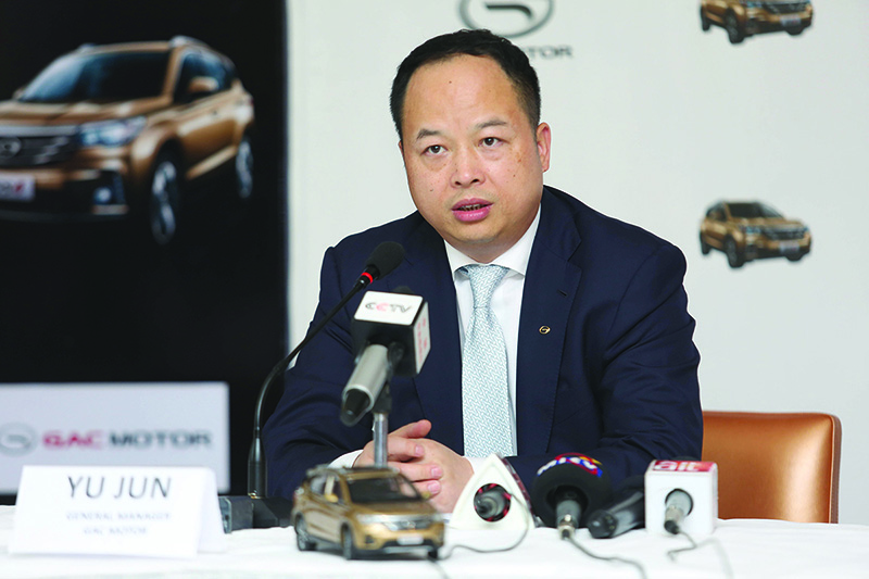 General Manager of GAC Motor Yu Jun