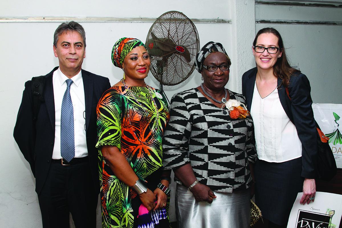 Selcuk Tanafar, Funmi Ladipo, Mrs Fahn and Loretta Foran
