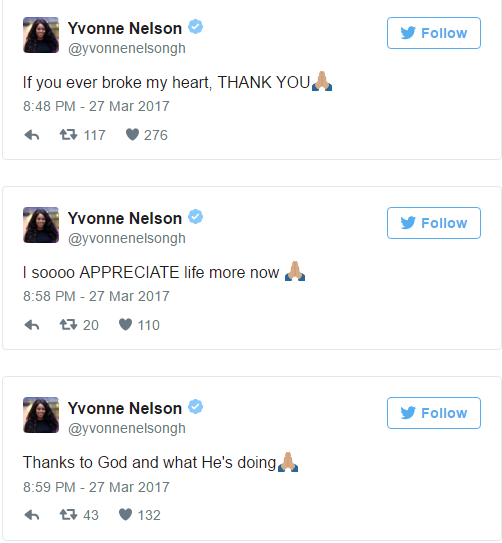 Yvonne tweets