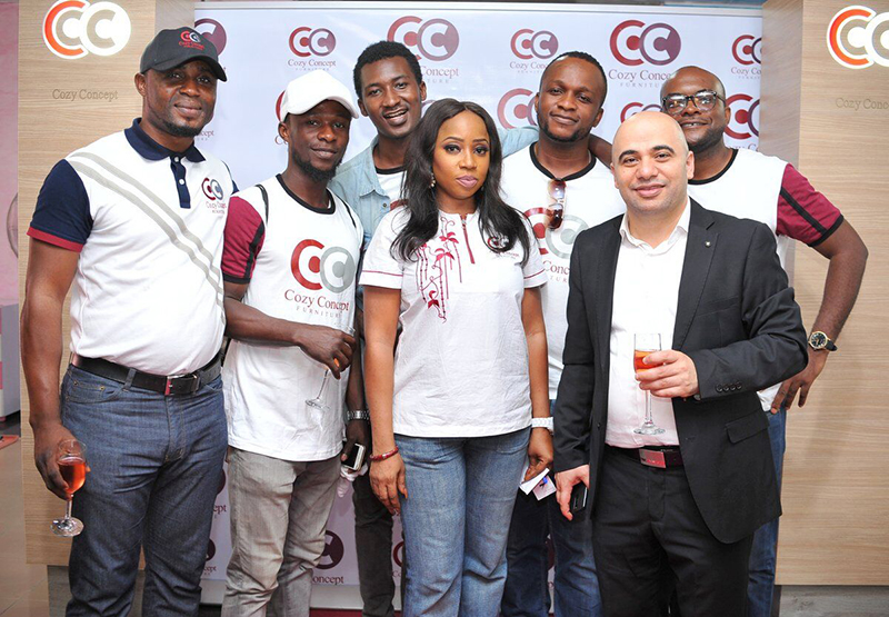 samir Bader CEO Cozy Concept with staff of cozy concept