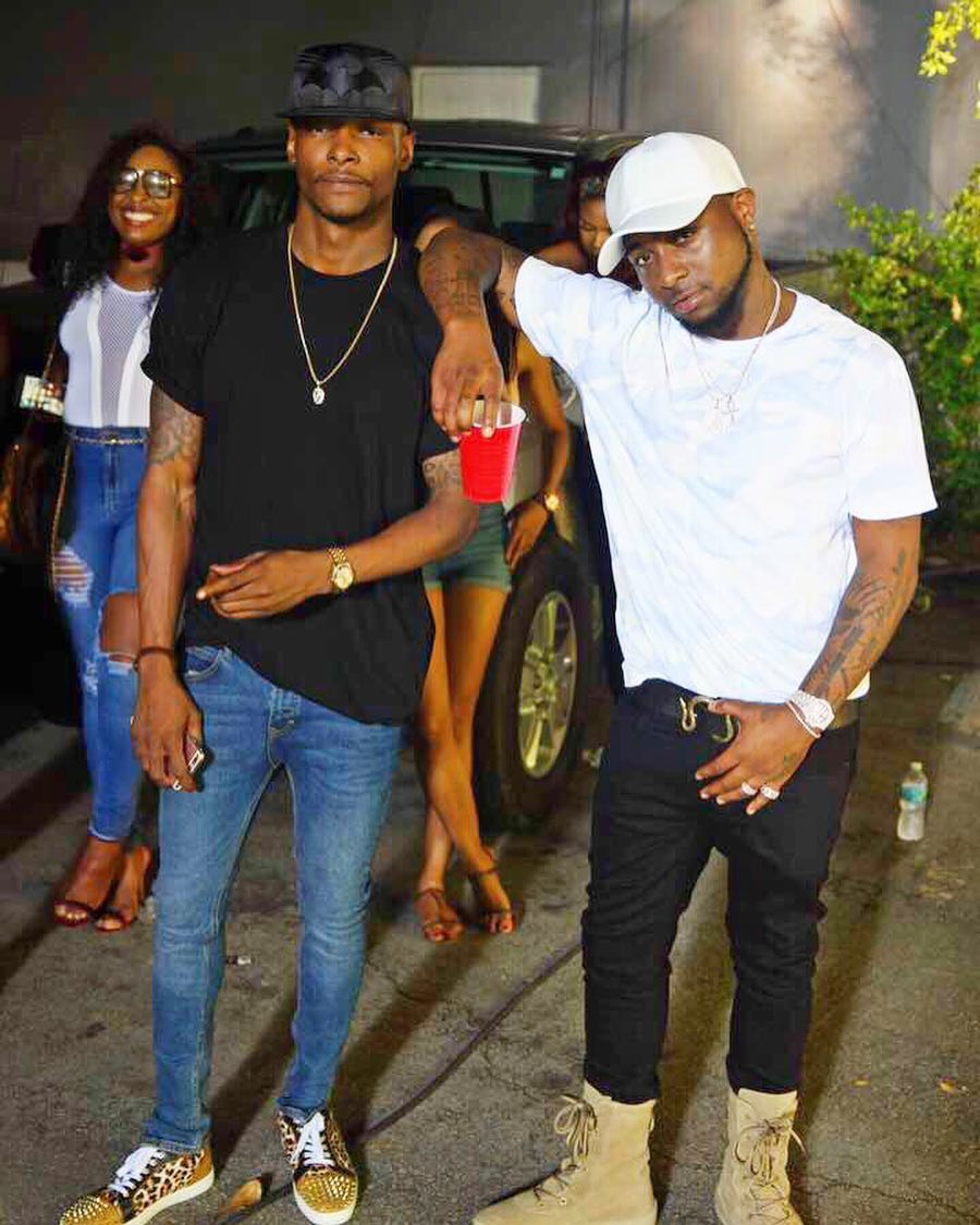 Davido and Olamide share photos from their new music video