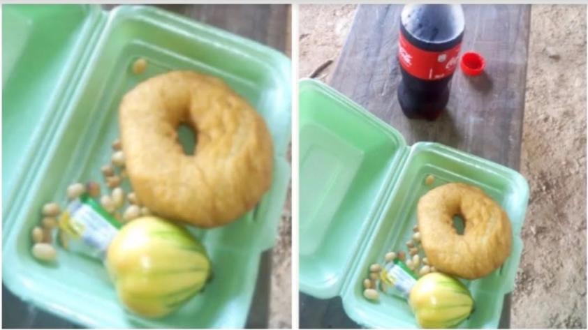 Couples serve doughnut, garden egg and groundnut during wedding ...