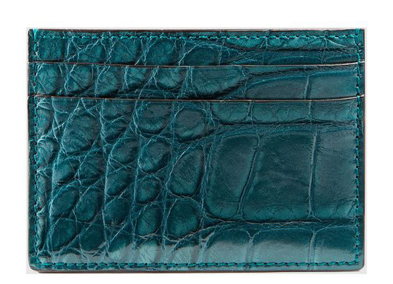 Gucci crocodile card case