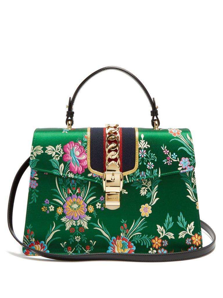 a119ca597e7 2.Sylvie Floral Top Handle Bag by Gucci - Vanguard Allure