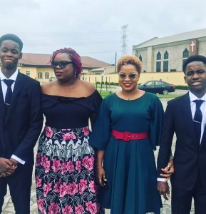Tope Oshin breaks down in tears as her twin sons graduate from highschool