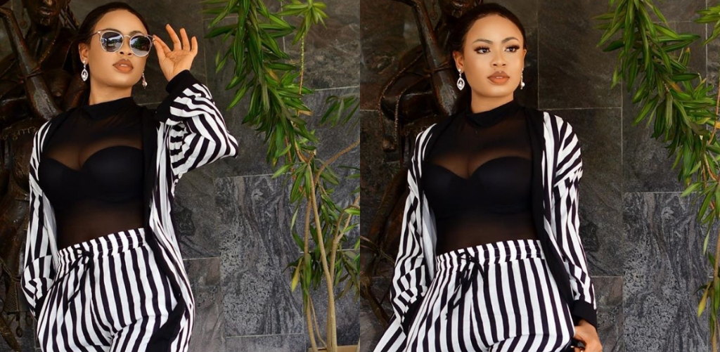 Image result for EX BBNAIJA STAR, NINA IVY ON TWO PIECE OUTFIT