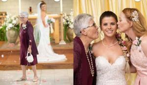 83-year-old grandma serves as flower girl at her granddaughter's wedding