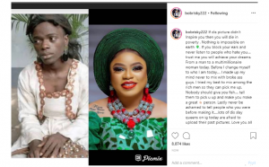 Bobrisky shares some inspirational message with his throwback photo