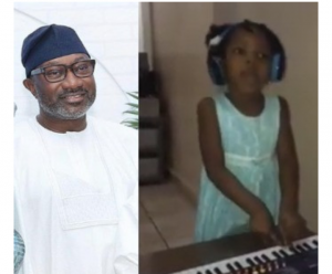 Otedola offers scholarship to little girl for singing DJ Cuppy's new song Gelato