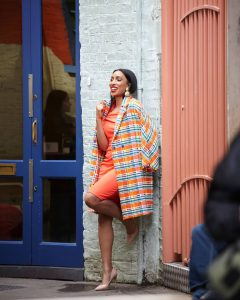 Adora Oleh dazzles on the street of London