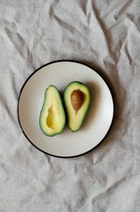 Sliced avocado on a plate