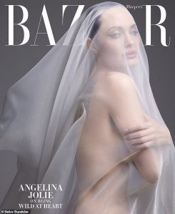 Angelina Jolie on haper bazaar cover